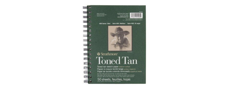 strathmore (412-5 400 series toned tan sketch pad