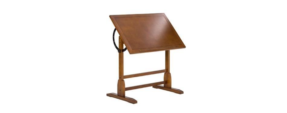studio designs vintage rustic oak drafting table