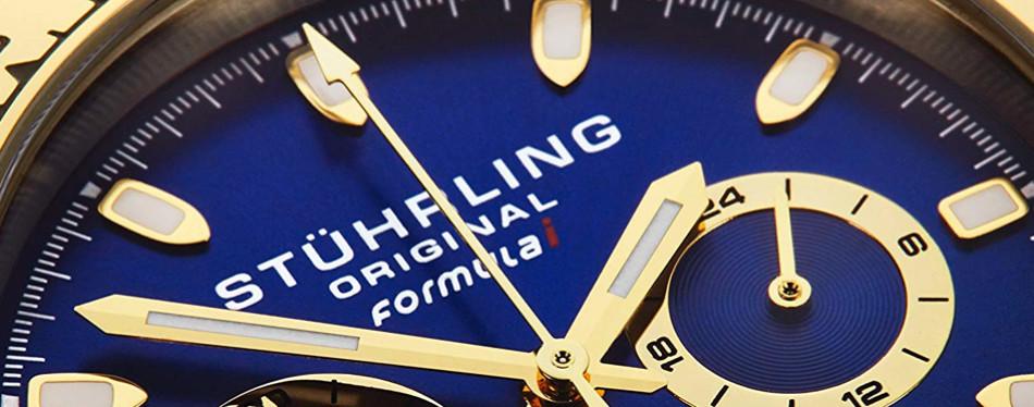 stuhrling original men's sport chronograph watch - 891 formula