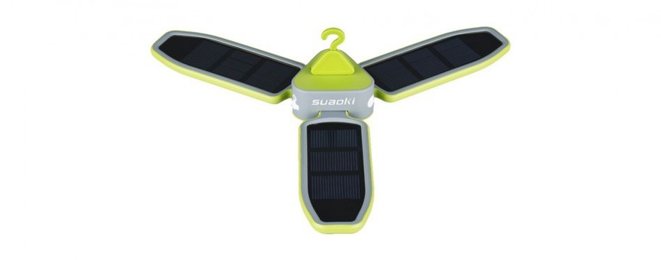 suaoki solar charge tent fan