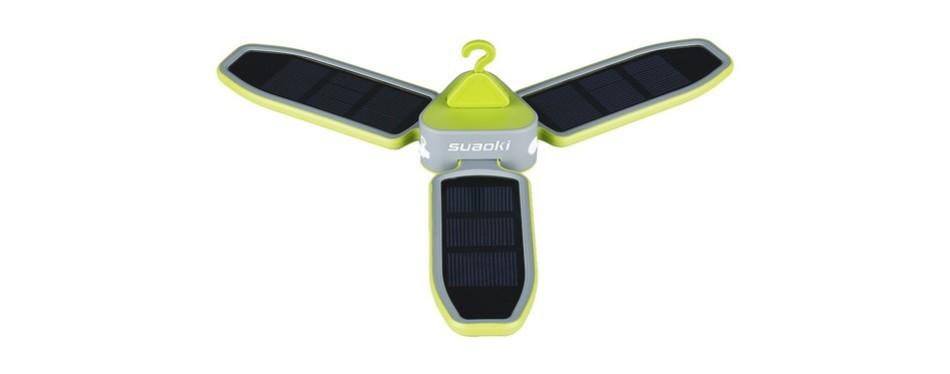 suaoki solar charge tent fan