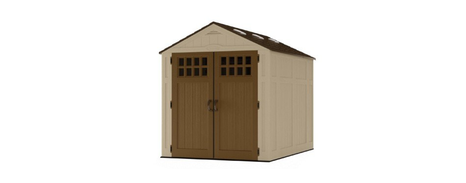 suncast 6x8 foot everett vertical storage shed