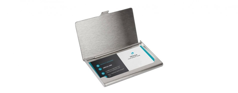 sunplustrade professional business card holder case, stainless steel (for both men and women)
