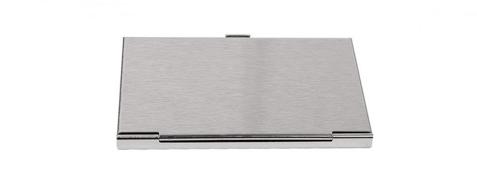 sunplustrade professional business card holder case stainless steel for both men and women - Business Card Holder For Men