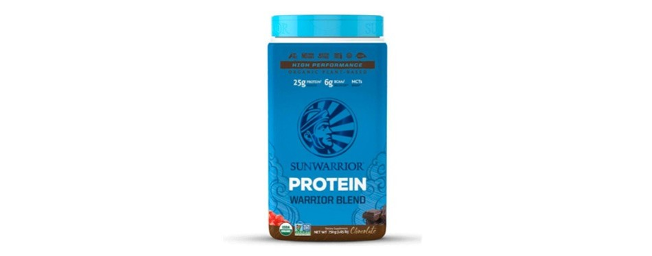 sunwarrior warrior blend plant based, raw protein powder: chocolate