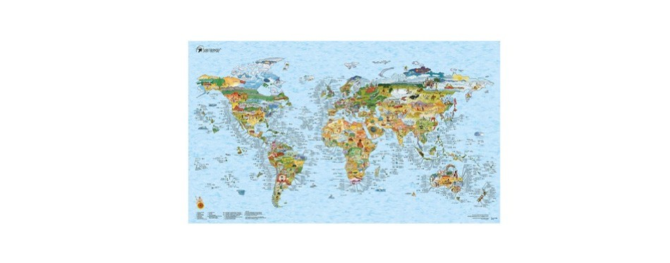 surf maps world map