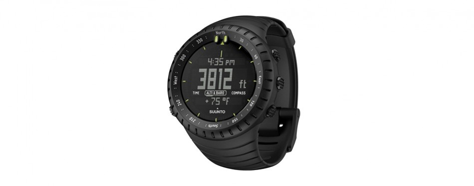 suunto core all black military compass watch