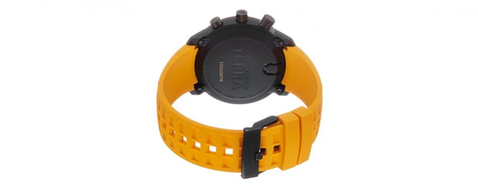 suunto elementum terra amber rubber strap digital watch