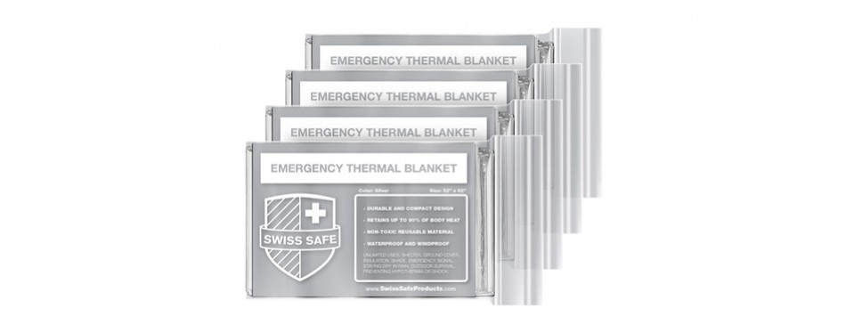 swiss safe emergency mylar thermal blanket