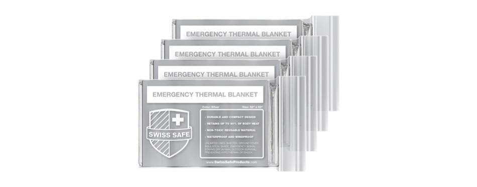 swiss safe emergency mylar thermal blanket