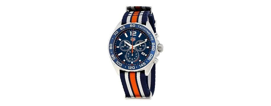 tag heuer formula 1 blue chronograph