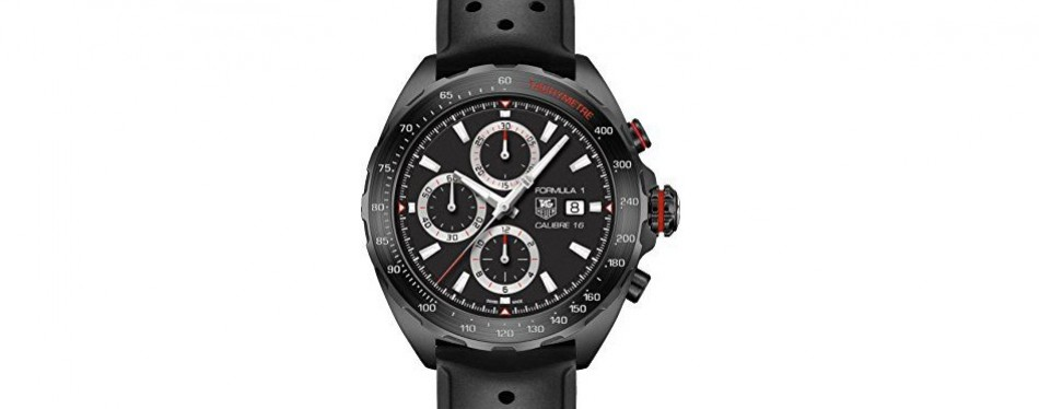 tag heuer formula one chronograph black dial