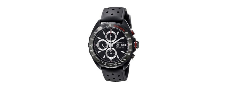 tag heuer formula one chronograph black dial