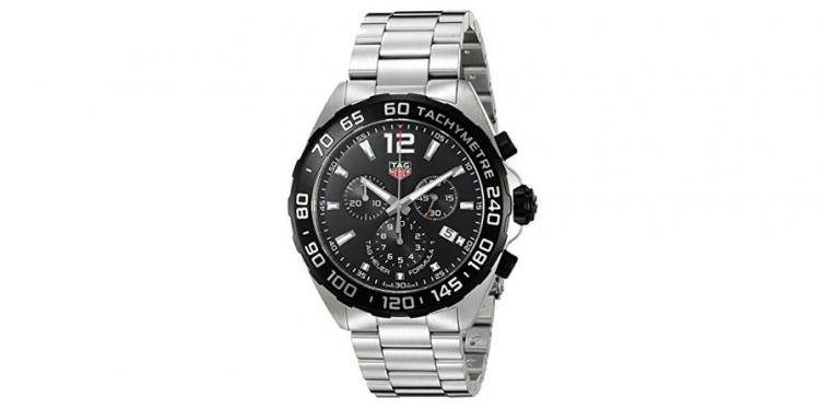 TAG Heuer Men's Formula 1 Swiss Quartz Stainless Steel Dress Watch, Silver