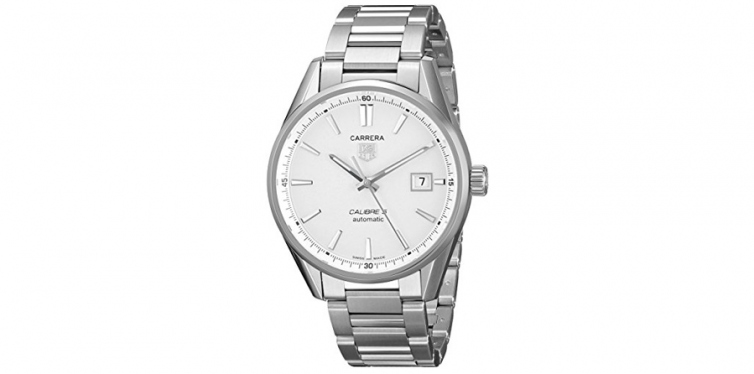 TAG Heuer Men's WAR211B.BA0782 Carrera Stainless Steel Automatic Watch