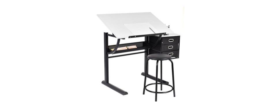 tangkula drafting table art and craft drawing desk