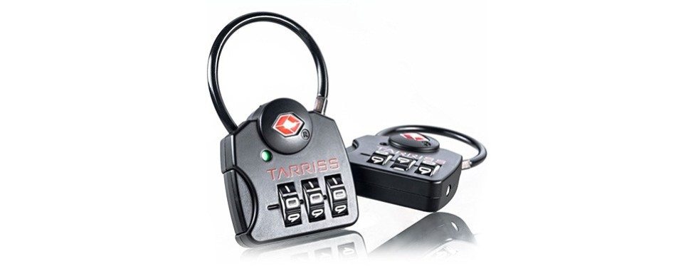 tarriss tsa lock with searchalert luggage tracker