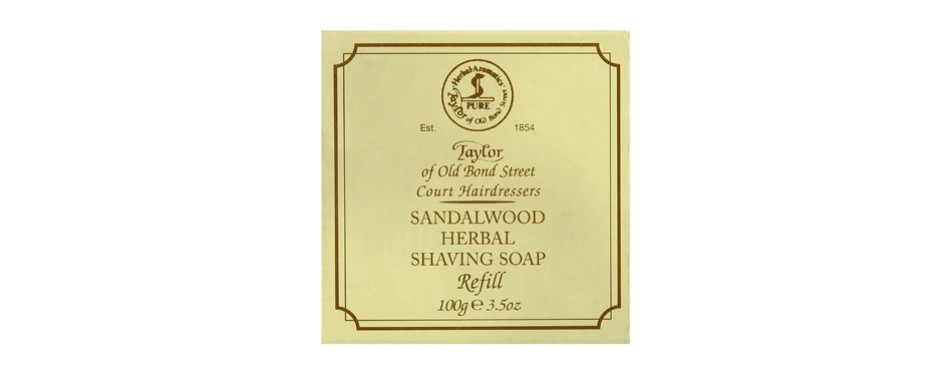 taylor of old bond street sandalwood hard shaving soap refill