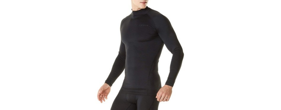 tesla men's thermal wintergear compression baselayer