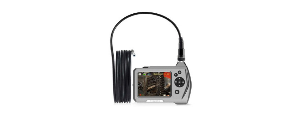 teslong ultra slim borescope with 5.5mm micro inspection camera