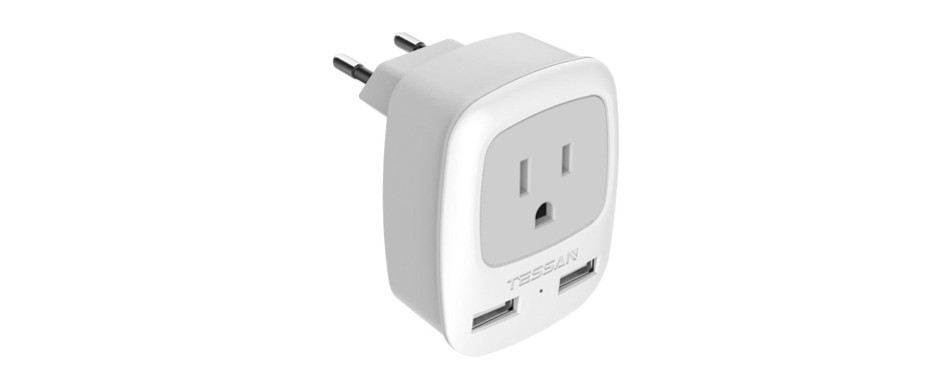 tessan european travel adapter