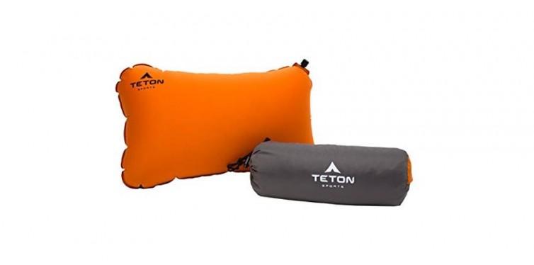 teton sports comfortlite self inflating camping pillow