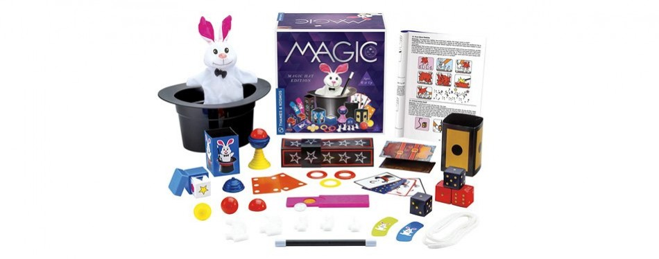 thames & kosmos magic kit hat with 35 tricks