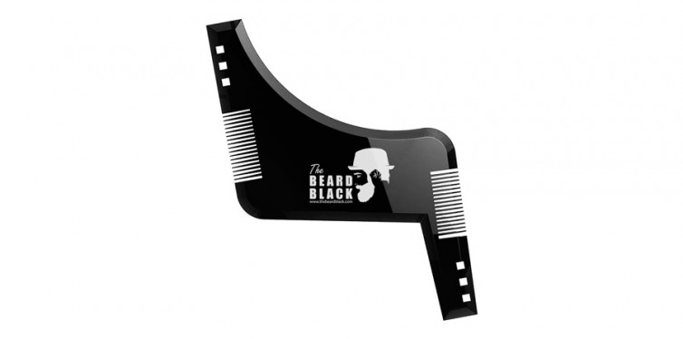 The Black Beard - Beard Shaping & Styling Tool with Inbuilt Comb