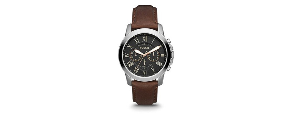 the grant stainless steel chronograph watch