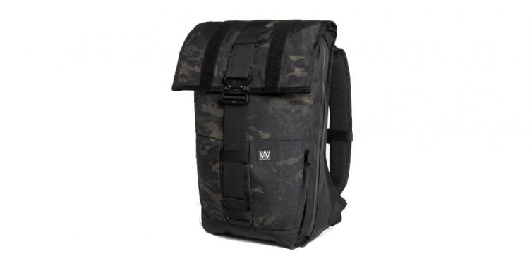 The Rambler Black Camo Expandable Backpack