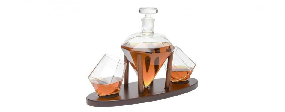 the wine savant diamond whiskey decanter