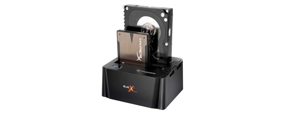 thermaltake blacx duet external hard drive enclosure docking station