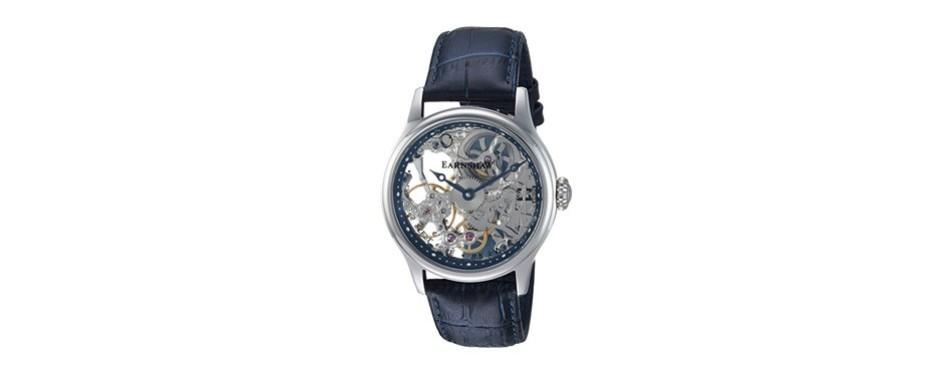 thomas earnshaw's bauer mechanical skeleton watch