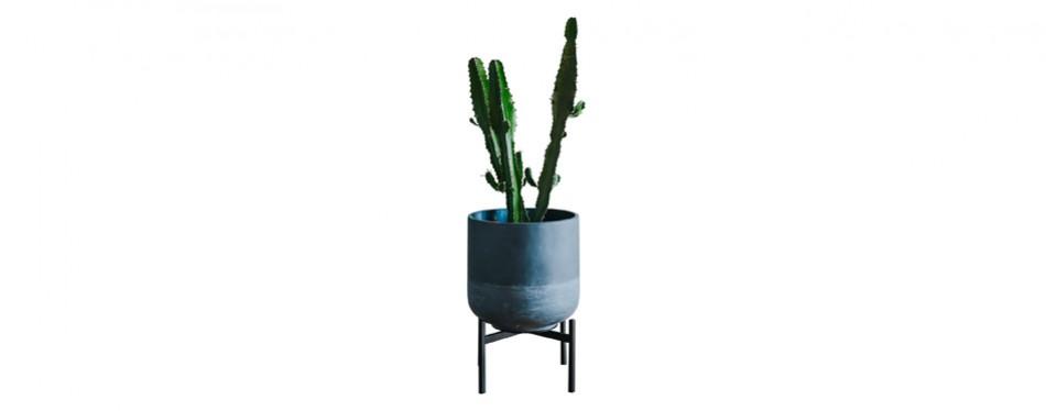 thorne & co mid century galvanized metal plant stand