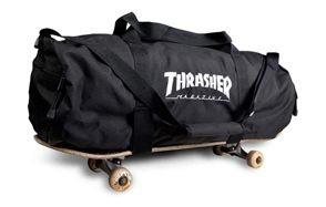 thrasher magazine embroidered skate mag logo duffel bag