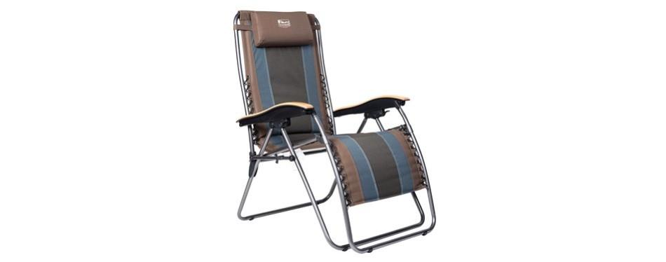 timber ridge zero gravity locking patio chair