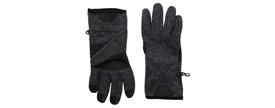 timberland men's ribbed knit wool glove