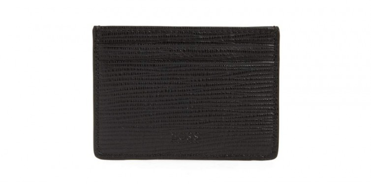 timeless leather clip card wallet