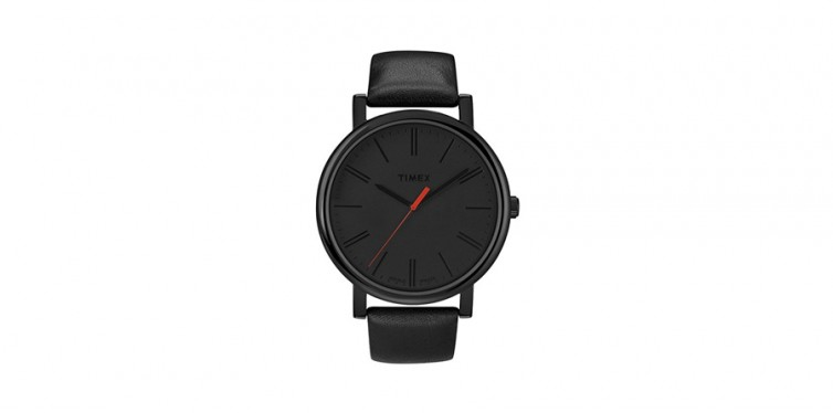 timex easy reader in black