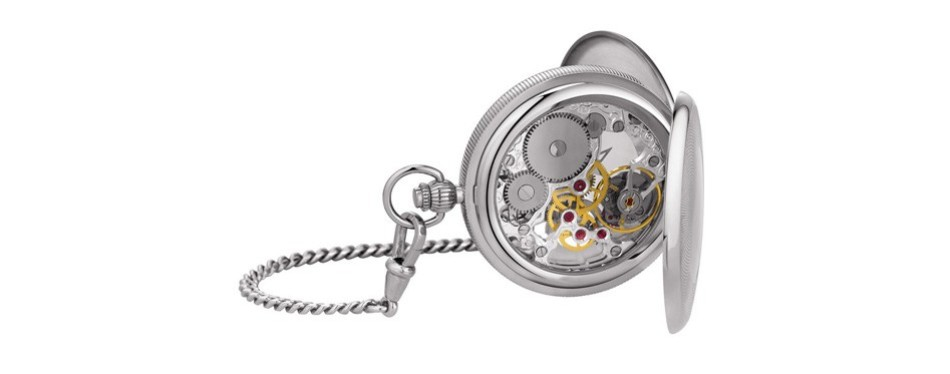 tissot bridgeport mechanical skeleton pocket watch