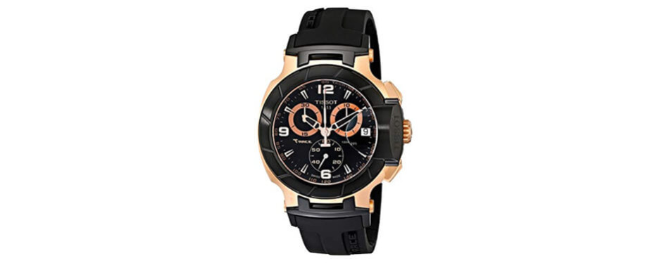 tissot men's rose gold watch