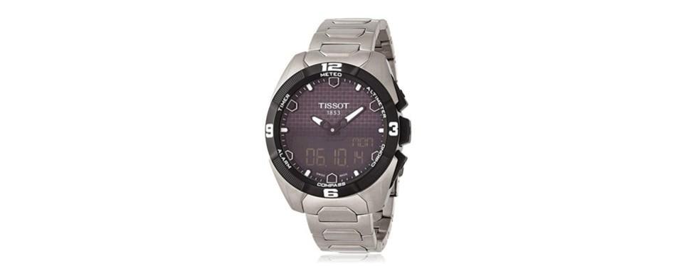 tissot t-touch expert analog-digital display watch