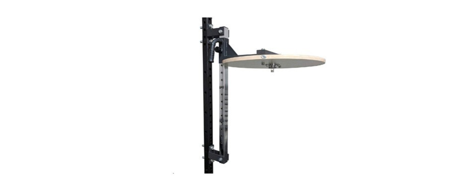 titan power rack mounted adjustable speed bag platform