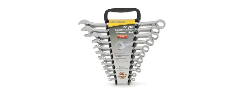 titan tools 17327 11-piece combo wrench set