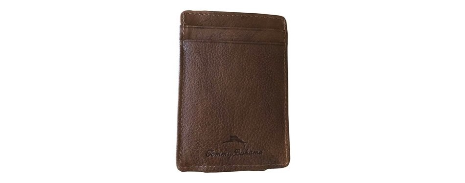 tommy bahama men's card case with magnetic money clip