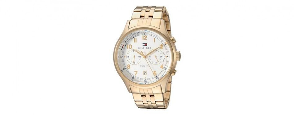 tommy hilfiger men's 'sport' quartz and stainless-steel-plated casual watch
