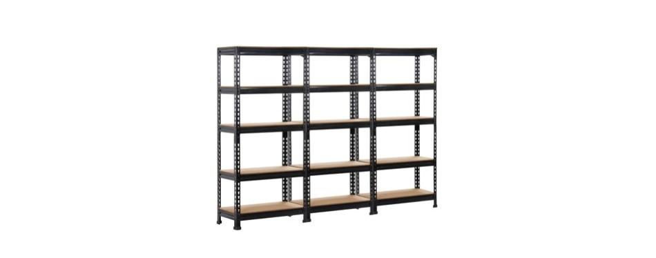 topeakmart 5 tier commercial industrial garage shelving unit