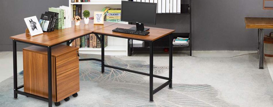 topsky l-shaped corner computer desk
