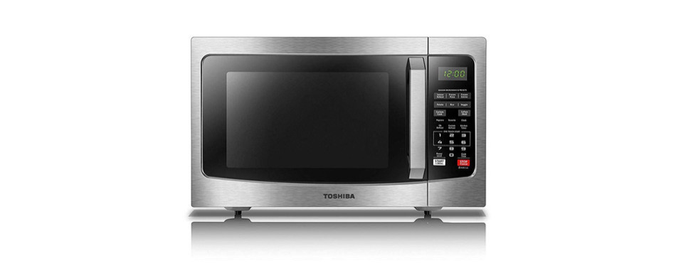toshiba em131a5c-ss microwave oven with smart sensor