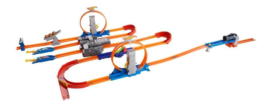 total turbo takeover hot wheels track builder set